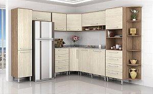 Cozinha Evolution Modulada de Canto - Noce