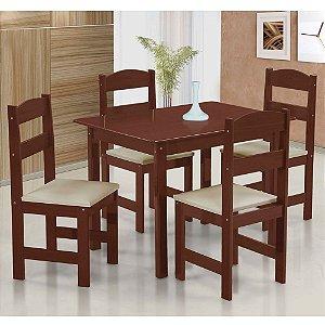 Jogo de Mesa com 4 Cadeiras Stilo Arauna Móveis
