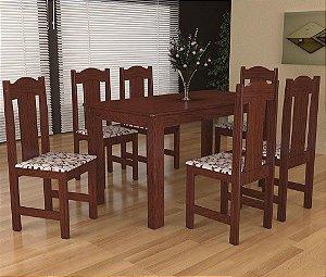 Jogo de Mesa com 6 Cadeiras Stilo Arauna Móveis