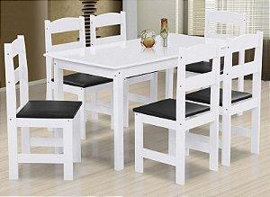 Jogo de Mesa Praiana com 6 Cadeiras Arauna Móveis