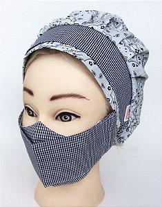 Touca com máscara cinza
