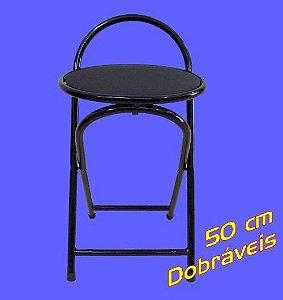 Banqueta Baixa Dobrável 50 cm Metalmix