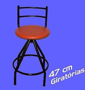 Banqueta Giratória Baixa 47 Cm