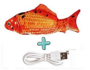 Brinquedo Realístico Peixe Interativo com cabo USB para recarregar