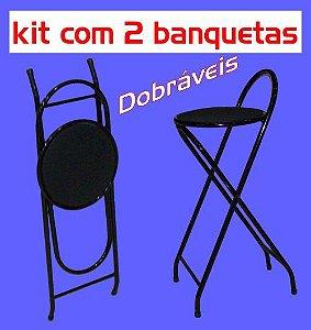 Banqueta Alta Dobrável Metalmix (kit com 2 unidades)