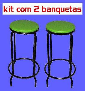 Banqueta Empilhável Alta (kit com 2 unidades)