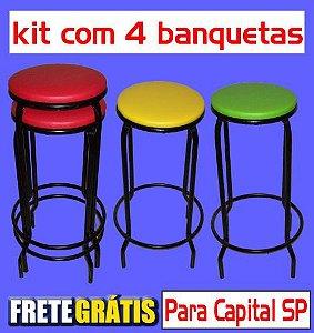 Banqueta Empilhável Alta (kit com 4 unidades)