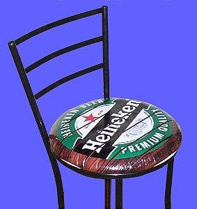 Banqueta Alta com Assento Personalizado