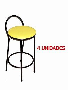 Banqueta Bar Fixa 70 cm (4 unidades)