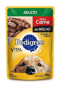 Ração Pedigree Sachê Vital - Pro Adulto Sabor Carne Ao Molho - 100gr