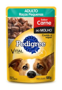 Ração Pedigree Sachê Vital - Pro Adulto Raças Pequenas Sabor Carne Ao Molho- 280gr