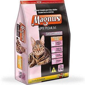Ração Adimax Pet Magnus Super Premium Para Gatos Castrados Sabor Frango e Arroz