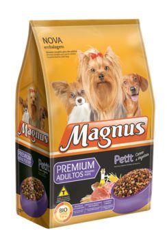 Ração Adimax Pet Magnus Petit Para Cães Adultos de Raças Pequenas Sabor Carne e Vegetais