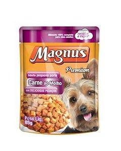 Ração Adimax Pet  Magnus Para Cães de Raças Pequenas Sabor Carne ao Molho Sachê - 85g