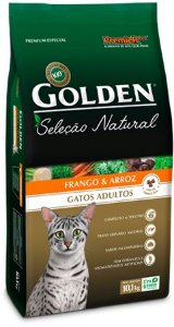 Ração Golden Seleção Natural Para Gatos Adultos Sabor Frango e Arroz