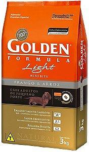 Ração Golden Formula Mini Bits Light Para Cães Adultos de Raças Pequenas Sabor Frango e Arroz