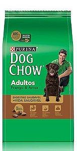 Ração Purina Dog Chow Para Cães Adultos Sabor Frango e Arroz