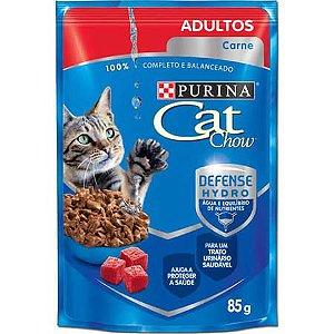 Ração Purina Cat Chow Para Gatos Adultos Sabor Carne Sachê - 85gr
