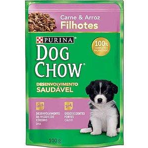 Ração Purina Dog Chow Para Cães Filhotes Sabor Carne e Arroz Sachê - 100gr