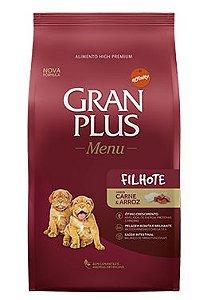 Ração Gran Plus Menu Para Cães Filhotes Sabor Carne e Arroz
