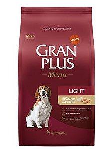 Ração Gran Plus Light Para Cães Adultos Sabor Frango e Cereais - 15,0kg
