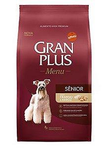 Ração Gran Plus Menu Para Cães Sênior Sabor Frango e Arroz