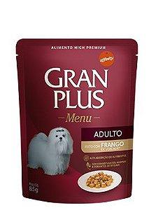 Ração Gran Plus Menu Para Cães Adultos Sabor Frango Sachê - 85gr