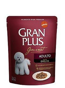 Ração Gran Plus Gourmet Para Cães Adultos Sabor Ovelha Sachê - 85gr