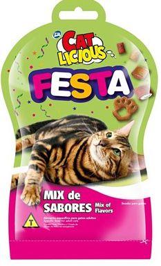 Petisco Cat Licious Festa Mix de Sabores Para Gatos - 40gr