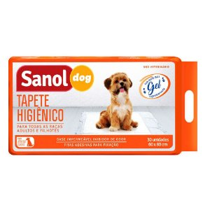 Tapete Higienico 60x80 Sanol Dog Gel Com 30 Unidades