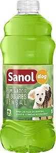 Eliminador de Odores Herbal Sanol Dog - 2l