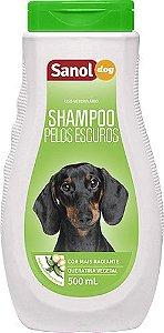 Shampoo Pelos Escuros Sanol Dog - 500ml