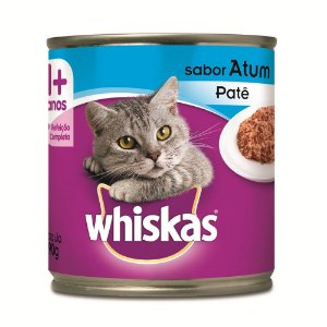 Ração Whiskas Para Gatos Adultos Sabor Atum Lata - 290g