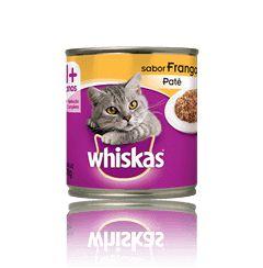 Ração Whiskas Para Gatos Adultos Sabor Frango Lata - 290g