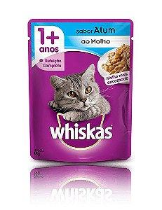 Ração Whiskas Para Gatos Adultos Sabor Atum Sachê - 85g