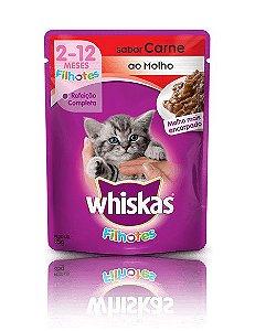 Ração Whiskas Para Gatos Filhotes Sabor Carne Sachê - 85g
