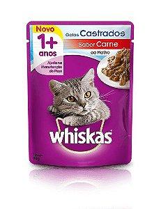Ração Whiskas Para Gatos Adultos Castrados Sabor Carne Sachê - 85g