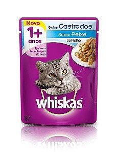 Ração Whiskas Para Gatos Adultos Castrados Sabor Peixe Sachê - 85g