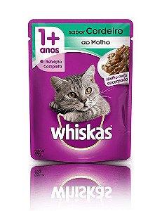 Ração Whiskas Para Gatos Adultos Sabor Cordeiro Sachê - 85g