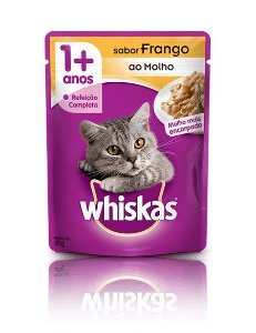 Ração Whiskas Para Gatos Adultos Sabor Frango Sachê - 85g