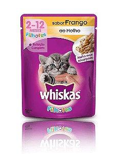 Ração Whiskas Para Gatos Filhotes Sabor Frango Sachê - 85g