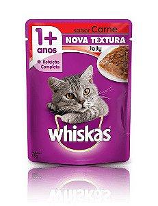 Ração Whiskas Para Gatos Adultos Sabor Jelly Carne Sachê - 85g