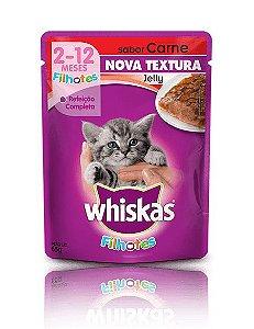 Ração Whiskas Para Gatos Filhotes Sabor Jelly Carne Sachê - 85g