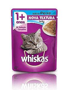Ração Whiskas Para Gatos Adultos Sabor Jelly Peixe Sachê - 85g