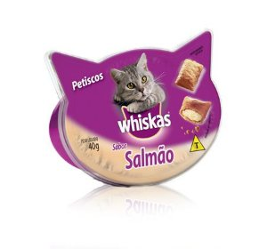 Petisco Whiskas Temptations Salmão - 40g