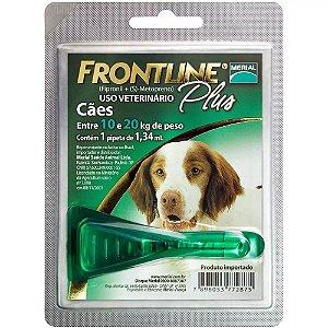 Antipulgas e Carrapatos Frontline Plus Para Cães de 10,0kg a 20,0kg