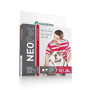Antipulgas e Carrapatos Neopet Ouro Fino Para Cães de 10,1kg Até 20,0kg - 1,34ml