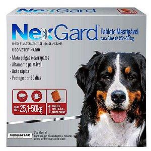 Antipulgas e Carrapatos Nexgard Merial Para Cães de 25,1kg Até 50,0kg