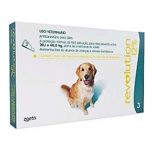 Antiparasitário Revolution 12% Zoetis Para Cães de 20,1kg a 40,0kg