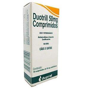 Antibiótico Duotril 50mg Duprat Com 10 Comprimidos
